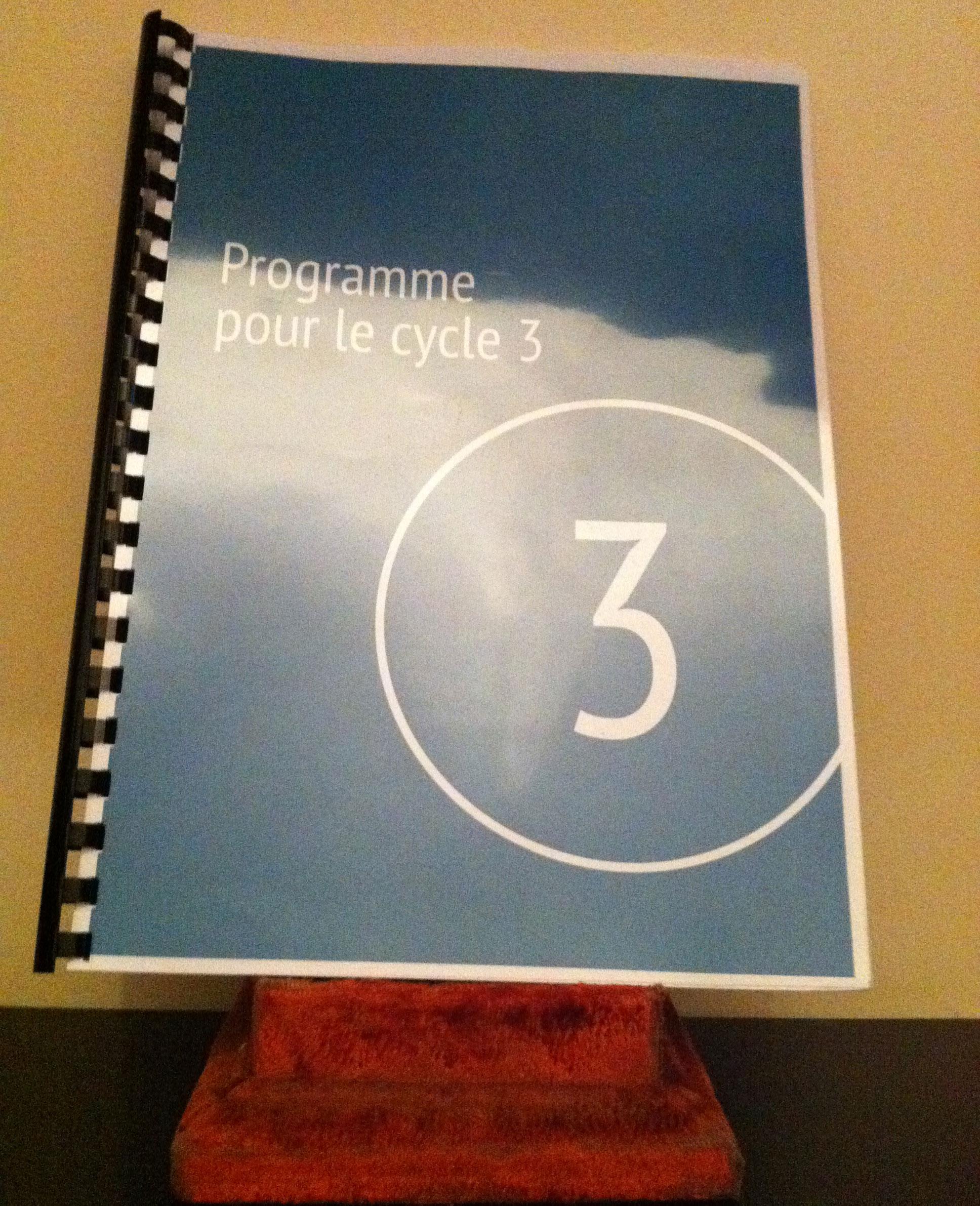 Lien entre le socle commun et les programmes du cycle 3